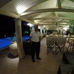 pool bar/ at night