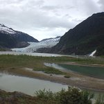 Mendenhall Glacier, see from the nature center side of the lake