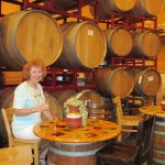 She had to taste in the Barrel Room!