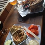 Hummus with Stockyard Altbier
