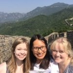 Jessie and us at The Great Wall of China