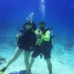 Rick Murphy and I on the last dive of my certification