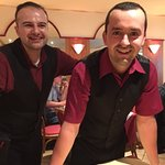 Waiters at La Perla. Made the dinner most entertaining!