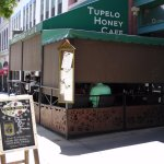 outside view of Tupelo Honey Cafe May 2017 Asheville, NC