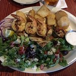Taste of Greece (Greek salad, shrimp, potatoes, chicken)