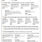 Page 1 of our menu