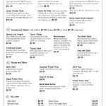 Page 2 of our menu.  We have a children's menu too!
