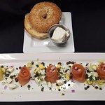 Smoked salmon and bagel