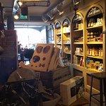 Quaint shop as you enter.