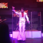 Elvis taking his bow.