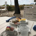 yummy! breakfast on the beach