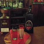 As recommended - 1800 (harsh!) and Tequila Rose (gentle)... both ends of the tequila spectrum!