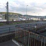 Aussicht auf den Rhein - wenn keine Bahn fährt