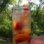 Enjoy our Peach Sangria on the deck!