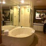 Jacuzzi & shower in Master Bedroom