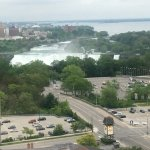 19th floor room view of US falls