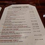 Longhorn steakhouse menu