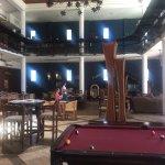 Train themed restaurant / games room (pool + shuffleboard + arcade games)