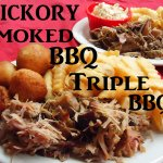 Triple R BBQ homemade hush puppies, pit smoked BBQ