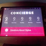 Kiosk concierge for answering questions