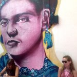 One of the two Frida murals... this one in the back courtyard