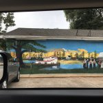 Building's mural update! Love this Cajun country!! Gorgeous art