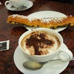 great capuccinos and huge pastry