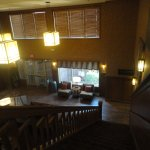 Looking down the stairs to the lobby