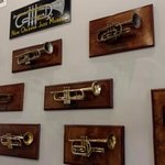 Jazz history on the walls in the main building lobby/breakfast area