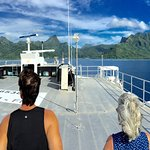 Top deck Aremiti ferry - Moorea ahead