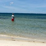 Our teenage son enjoying some fishing at St. George Island State Park. He was in heaven!