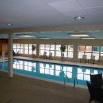 Indoor, heated pool and sauna