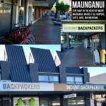 Road frontage of our downtown hostel - find us at 87 Maunganui Road, Mount Maunganui, New Zealan