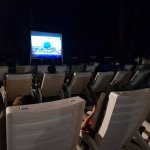 Outdoor movie by the beach