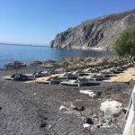 View from the Prince Bar and Rest. Kamari Beach, Santorini,Greece