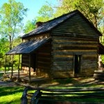One of the cabins of nearby Cade's Cove