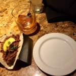 Smokey Pulled Pork Taco on Happy Hour. Absolutely Delicious!