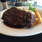 My husband's 10 oz New York steak