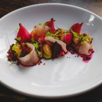 Cured Cobia, beetroot