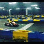 Best picture I can get of myself go-karting.