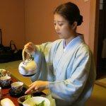 Our hostess preparing morning tea
