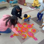 Rangoli - My Grandson enjoyed this activity the most
