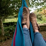 Chilling in the hammocks