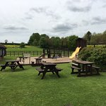 Beer garden and play area