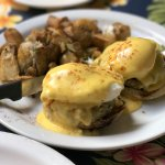 Crab Cakes on Muffins with Egg Benedict with Hollandaise Sauce!