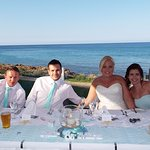 top table with sea view