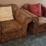 Tired and sad residents' lounge furniture