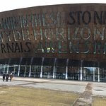 Outside Cardiff Millennium Centre