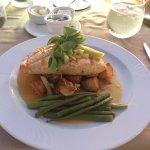 Salmon, New Potatoes, Green Beans, Orange & Fennel Salad