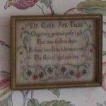 Above the headboard in (Mary's?) bedroom-Hildene